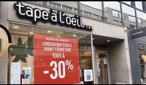 30% de réduction sur toute la boutique Tape à l'œil - Centre-ville Boulogne sur Mer (62)