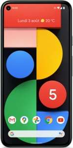 """Smartphone 6"""" Google Pixel 5 - 8 Go de Ram, 128 Go (+ 57.90€ en Rakuten Points) - Boulanger"""