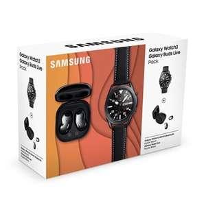 Pack montre connectée Samsung Galaxy Watch3 - 45 mm, Noir mystique + Ecouteurs sans fil Samsung Galaxy Buds Live