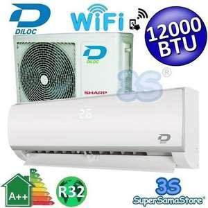 Climatiseur Diloc Frozen 3S - 12000 BTU, 3.5 kW, Wi-Fi, compresseur Sharp