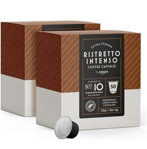 Capsules Ristretto Intenso by Amazon compatibles Nespresso - 100 capsules (Divers variétés)