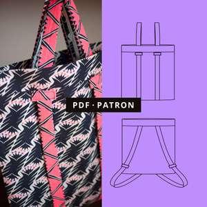 PDF Patron de couture Tote Bag à dos gratuit (Dématérialisé)
