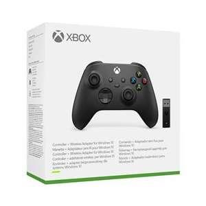 Manette Xbox séries X avec adaptateur sans-fil windows 10 noir