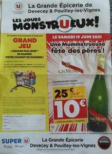 1 Bouteille de Champagne Brut Mumm Cordon Rouge 75 cl / Devecey et Pouilley-les-Vignes (25)