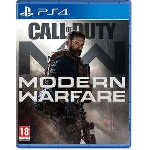 Call of Duty Modern Warfare sur PS4 (via 45,49€ sur la carte)
