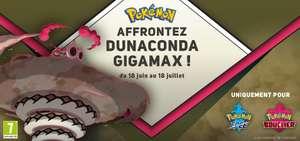 Contenu additionnel offert Dunaconda Gigamax pour Pokémon Épée / Bouclier sur Nintendo Switch (Dématerialisé)