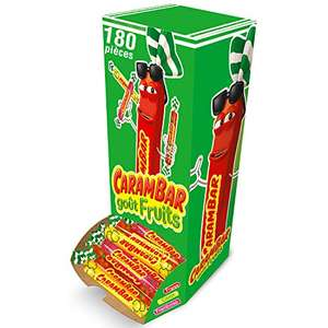 Boite de 180 Bonbons Carambar (Diverses variétés) - Ex : Goût Fruits