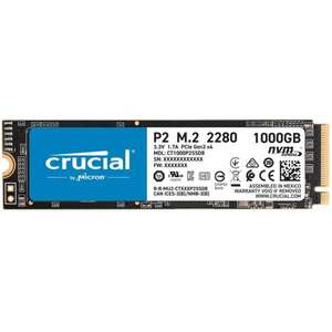 SSD interne M.2 NVMe Crucial P2 (CT1000P2SSD8) - 1 To, 3D NAND, DRAM-less
