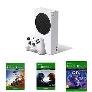 [Prime] Console Microsoft Xbox Série S + Forza Horizon 4 + Halo 5 + Ori & the Will of the Wisps (Dématérialisés)