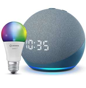 [Prime] Assistant Vocal Echo Dot (4e génération) + Ampoule Connectée Ledvance (E27) compatible Alexa