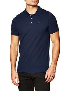 [Prime] Polo à manches courtes Tommy Jeans Homme Original Fine Pique - Bleu foncé (plusieurs tailles)