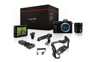 Pack appareil photo Panasonic Lumix S5 + objectif zoom S 20-60mm + Cage et Poignée Top Raven 8Sinn + Moniteur Atomos Shinobi + Accessoires