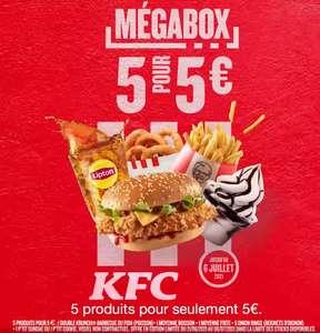 Mégabox : Double Krunch + 5 The Original Onion Rings + Frites + Boisson + Petit sundae à 5€