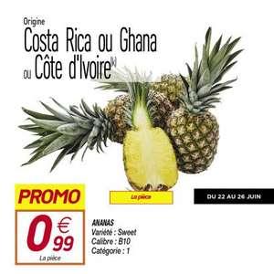 Ananas Sweet Catégorie 1 - Origine Costa-Rica, Ghana ou Côte d'Ivoire