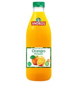 40% de réduction sur une sélection de jus de fruits Andros (via ODR) - Ex: Jus d'Orange 100% Pur Jus Sans Sucres Ajoutés (1L) chez Carrefour