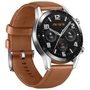 Montre connectée Huawei Watch GT 2 (46 mm) - Noir à 87.10€ & Argent/Marron à 88.12€ (Entrepôt France)