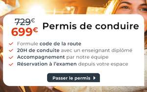 Formation au Permis de Conduire (Code de la Route + 20 heures de conduite) - auto-ecole.Cdiscount.com