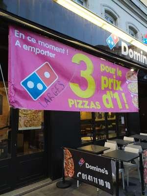 3 Pizzas pour le prix d'1 - Domino's asnières-sur-seine (92)