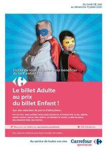 Le Billet Adulte au prix Enfant sur une sélection de Parcs d'Attractions