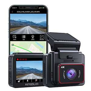 Caméra embarquée Kingslim D5 - 4K, GPS & WiFi (Vendeur tiers)