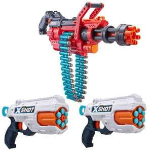 Jouet Super pack Xshot: 3 pistolets: 1 canon OMEGA + 2 Reflex6 + 98 flèches