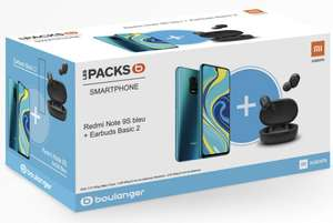 "Smartphone 6.67"" Xiaomi Redmi Note 9S - Snapdragon 720, 4/64Go + Ecouteurs Basic 2 (134€ avec RAKUTEN15 + 4.92€ en RP) - Boulanger (ODR 30€)"