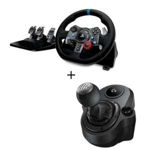 Logitech Volant G29 + Levier de vitesse Driving Force Shifter