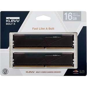 Kit mémoire RAM DDR4 Klevv Bolt X - 16 Go (2 x 8 Go), 3200 CAS 16