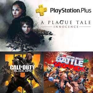 [PS+] A Plague Tale: Innocence, Call of Duty Black Ops 4 et WWE 2K Battlegrounds offerts sur PS4/PS5 (Dématérialisés)