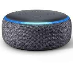 Assistant vocal Amazon Echo Dot 3 - Noir, Alexa, Tissu anthracite