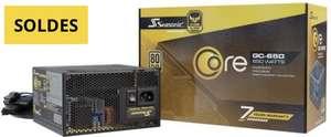 Alimentation PC non-modulaire Seasonic Core GC-650 - 80+ Gold, 650W