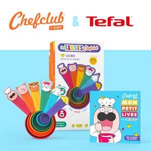 Lot de 6 tasses ChefClub Tefal + livret de 4 recettes illustrées pour enfants (frais de port inclus) - chefclub.tv