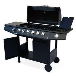 Barbecue au gaz Treville BBQD68MBK - 6 brûleurs + feu latéral, noir