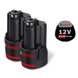 Pack de 2 Batteries Bosch GBA 12 volts 2,0 Ah