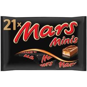 Lot de 21 barres Mini Mars - 400g