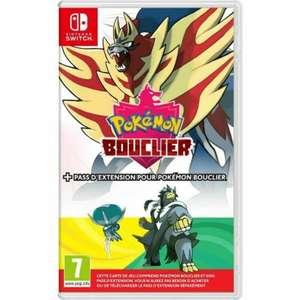 Jeu Pokémon Bouclier + Pass Extension sur Nintendo Switch