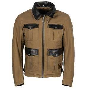 Veste moto Helstons Joey KRM - Coton/cuir, Toutes tailles - Seclin (59)