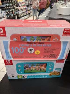 Console Nintendo Switch Lite + Animal Crossing New Horizons (via 100€ bon d'achat) - Saumur (49)