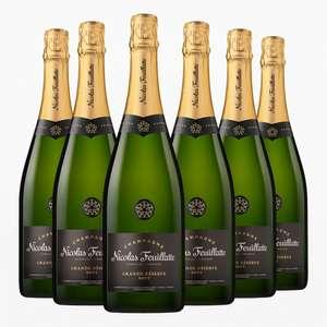 6 Bouteilles de Champagne brut Nicolas Feuillatte - 6x75cl