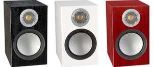 Paire d'enceintes bibliothèques - Monitor Audio Silver 100 Black Oak, Rosenut ou White Satin