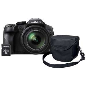 Appareil photo Bridge Panasonic Lumix DMC-FZ300 avec housse Panasonic + Carte SD Transcend 32 Go