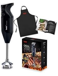 Coffret Barbecue Bamix Grill & Chill : Mixeur Plongeant 200W + 4 embouts + 2 gobelets (400 + 600 ml) + Tablier + Livre de 40 recettes