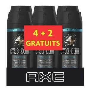 Lot de 6 déodorants homme Axe Collision Cuir & Cookies (6 x 150 ml) - Reims-Neuvillette (51)