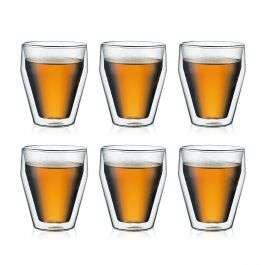Set de 6 verres Bodum Titlis - double paroi, empilable, 25cl