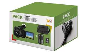 Appareil photo Canon EOS M50 Mark II + Objectif EF-M 15-45 mm f/3.5-6.3 IS STM + EF-M 55-200 mm f/4.5-6.3 IS STM + Etui + Carte SD 16Go