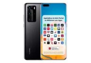 "Smartphone 6.58"" Huawei P40 Pro 5G - full HD+, Kirin 990, 8 Go de RAM, 256 Go, noir, sans services Google (Frontaliers Suisse)"