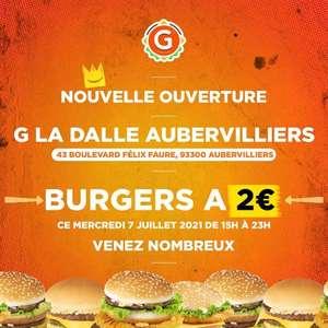 Burger à 2€ - G La Dalle Aubervilliers (93)
