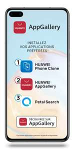 "Smartphone 6.1"" Huawei P40 5G - 8 Go RAM, 128 Go + Montre connectée Huawei Watch GT 2e (Via ODR 50€ - Sans services Google)"