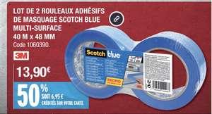 Lot de 2 rouleaux adhésifs Scotch Blue - 40mx48mm