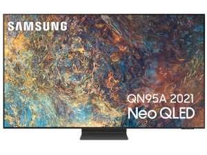 """TV QLED 65"""" Samsung Neo QE65QN95A (2021) - 4K UHD, HDR 2000, 100Hz, Smart TV, HDMI 2.1 + Barre de son HW-Q60TZF (Via ODR de 600€)"""